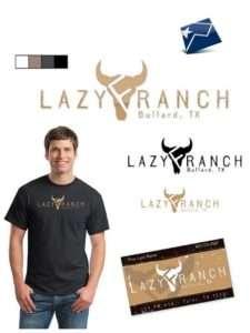 Lazy F Ranch logos